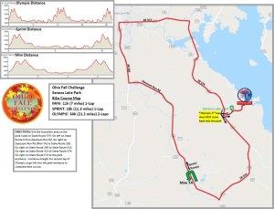 Ohio Fall Challenge bike map