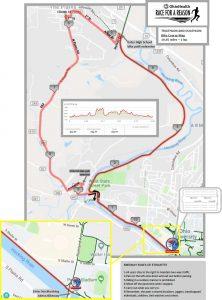 OU Race for a Reason Tri-Du bike course