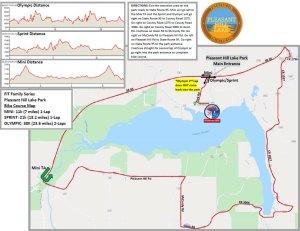Pleasant Hill Lake Bike Map