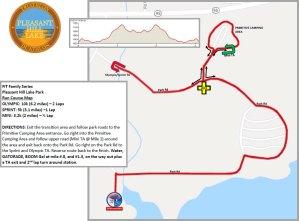 Pleasant Hill Lake Run Map