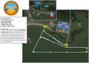 Pleasant Hill Lake Swim Map