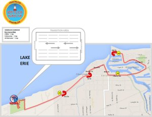 Vermilion Harbour Run Map