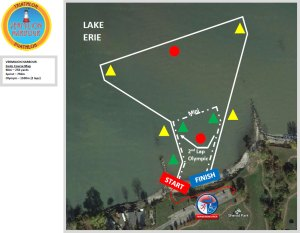 Vermilion Harbour swim map