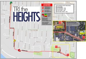 Tri The Heights bike course