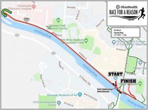 OU 3K Walk Course Map 2019